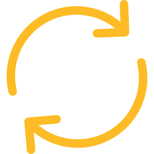 2 arrows in a circle yellow logo