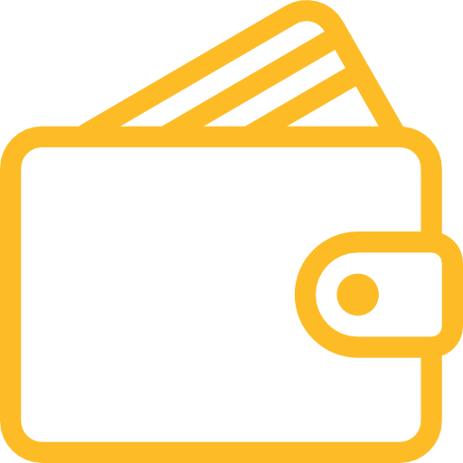 yellow wallet icon