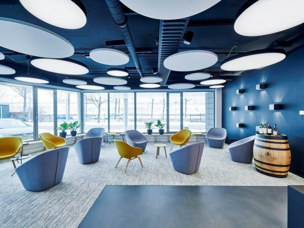 ecophon master solo rond plafondeiland akoestisch panelen paneel plafondplaat platen
