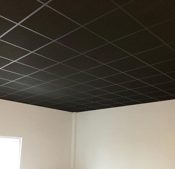 Rockfon Cinema Zwart zwart plafond zwarte systeemplafond platen plafondpanelen