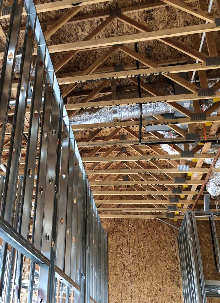 metal stud wanden profielen plafonds systeemplafonds scheidingswand voorzetswand metalstud prijzen hout