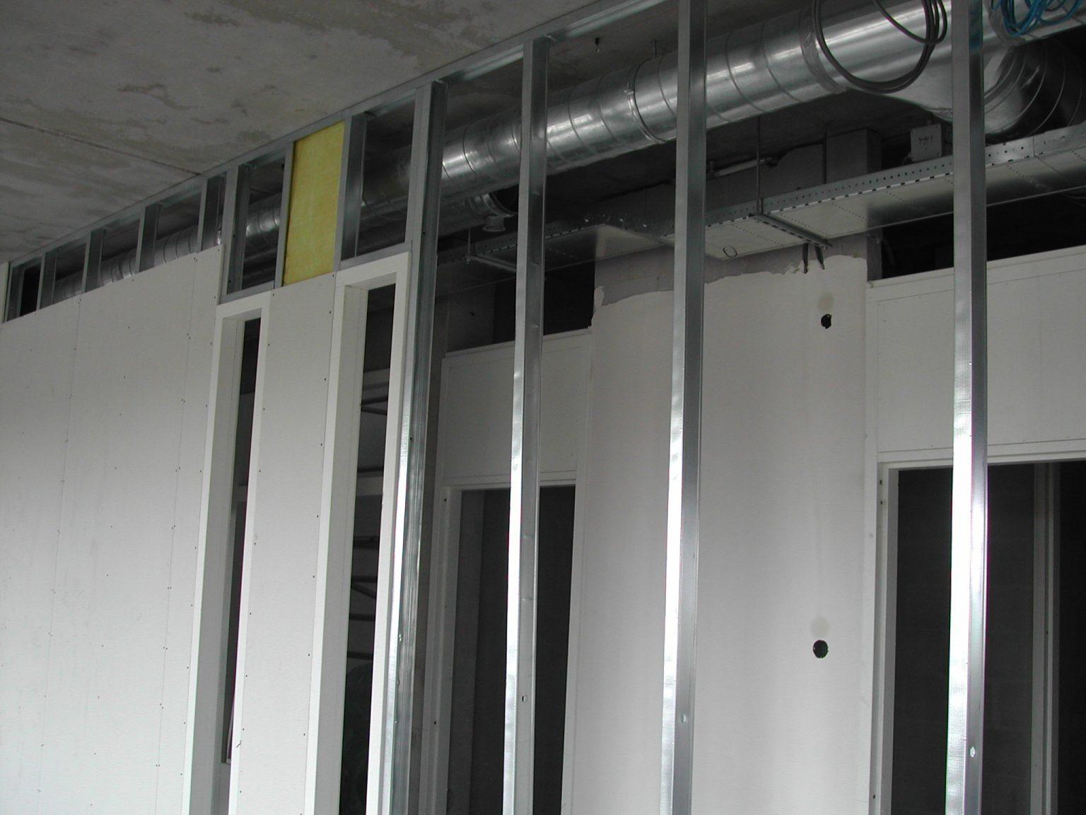metal stud wanden profielen plafonds systeemplafonds scheidingswand voorzetswand metalstud prijzen