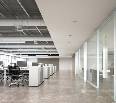 Open kantoor slechte Akoestiek modern kantoor