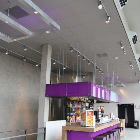 Systeemplafonds.nl Amsterdam Renovatie akoestiek akoestisch plafond plafondplaten panelen plafondeiland