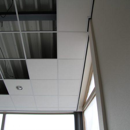 Systeemplafonds.nl Amsterdam Renovatie systeemplafond plafondeiland platen plaat akoestisch akoestiek