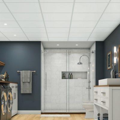 systeemplafond badkamer douche toilet vochtbestendige plafondplaten panelen plafondsysteem